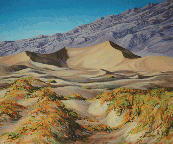 Fall Dunes At Stovepipe Wells Art by Joy Collier's California Landscape Art