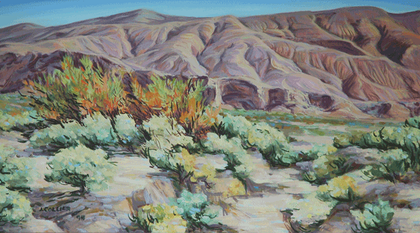 Red Rock Canyon With Mesquite Art | Joy Collier's California Landscape Art