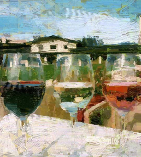 Beautiful Napa Wine art