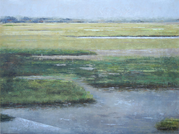 Marsh Landing - Wetlands Painting - Landscape Art