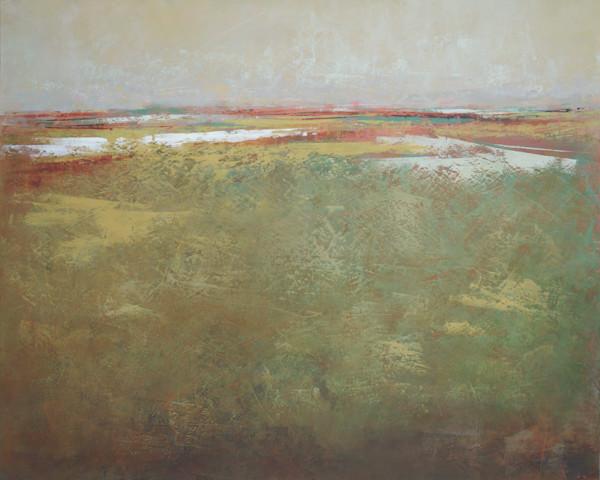 Olive Ingress - Abstract Landscape Painting - Coastal Art