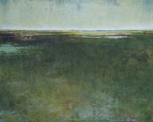 Verdant Vision - Marsh Painting - Coastal Wall Art