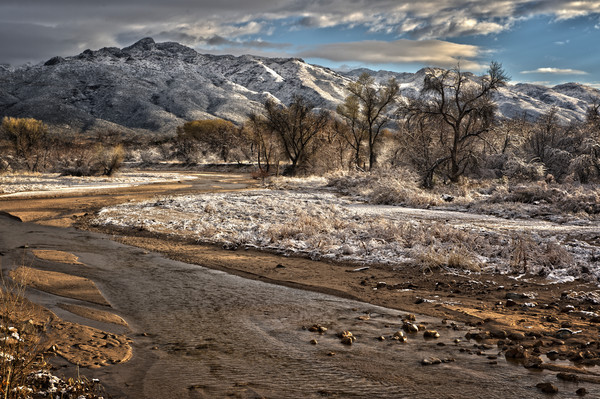 Mountain Snow Runoff Fills Desert Creek