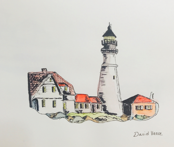 Portland Headlight Art | DavidPVance Prints