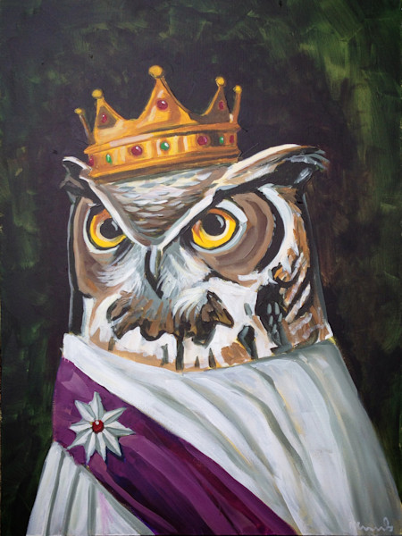 """""""Le Royal Owl"""" by Nathan Rhoads 