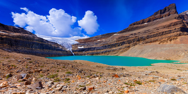 Iceberg Lake and Bow Glacier in Banff. Canadian Rockies | Banff national Park | Rocky Mountains |
