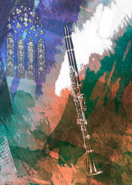 Clarinet Painting Music Art  9001.304