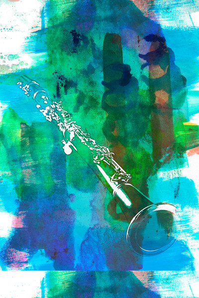 Clarinet Painting Original Art 9001.308