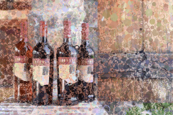 Jacuzzi Wine art, pride of Sonoma Valley. Jacuzzi Wine, Sonoma, wine art, California, USA.  Prints, canvas, posters by Peter McClard at VectorArtLabs.com