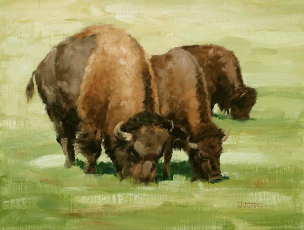 Raymond Wattenhofer Art Oil Painting Three Grazing