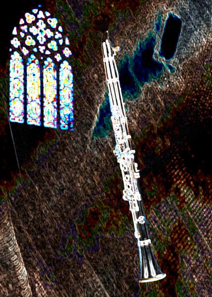 Clarinet Dark Wall Art Drawing 9001.504