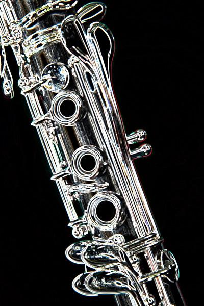 Clarinet Dark Drawing Music Art 9001.502