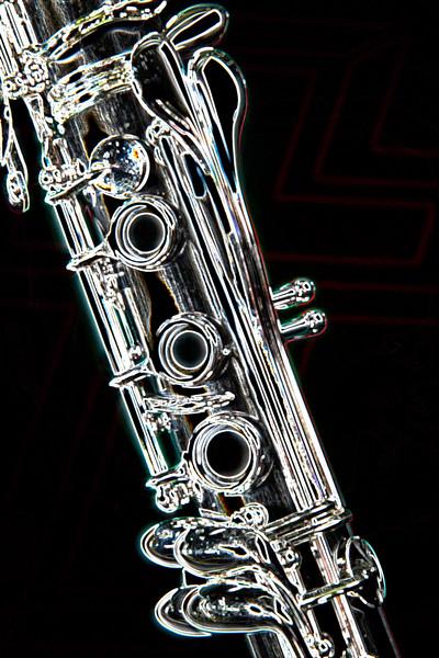 Clarinet Dark Art Drawing 9001.507