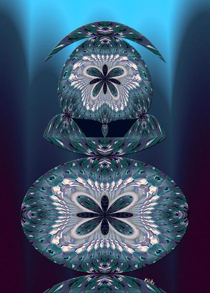 Locust Lamp print of photograph transformed into digital art for sale by Maureen Wilks