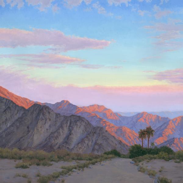 Desert Sunrise in Coachella Valley | Santa Rosa Mountains | La Quinta | Desert Painting | Desert Print | Clouds painting