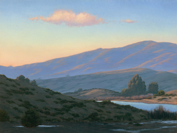 Twilight Glow Nicasio Reservoir Art | Terry Sauve Fine Art