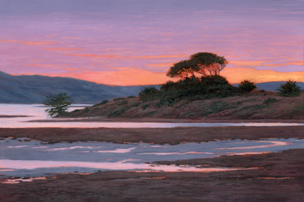 Violet Sunset Tomales Bay Art | Terry Sauve Fine Art