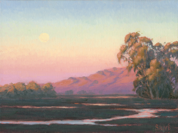 Wetland Moonrise Art | Terry Sauve Fine Art