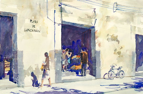 Plaza de Lascanan fine art print by Bill Doyle.
