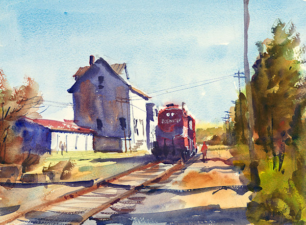 Plymouth train fine art print by Bill Doyle.