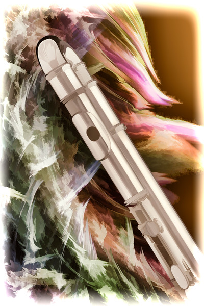 Flute Painting of Music Instrument for Musiciams
