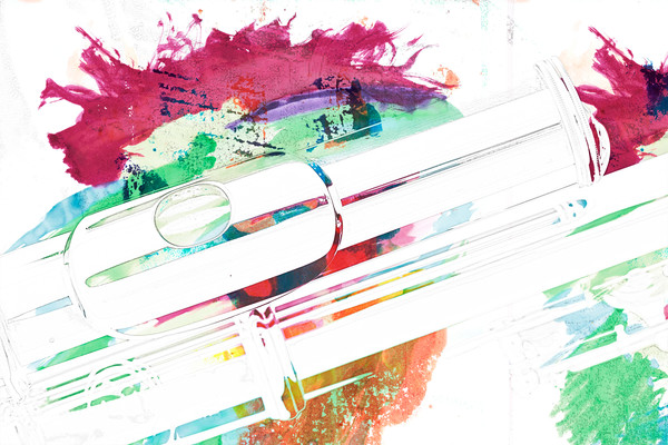 Flute With A Splash of Color Painting 8001.309