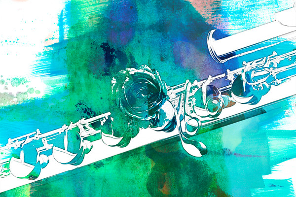 Flute Painting Wall Art Decor 8001.342