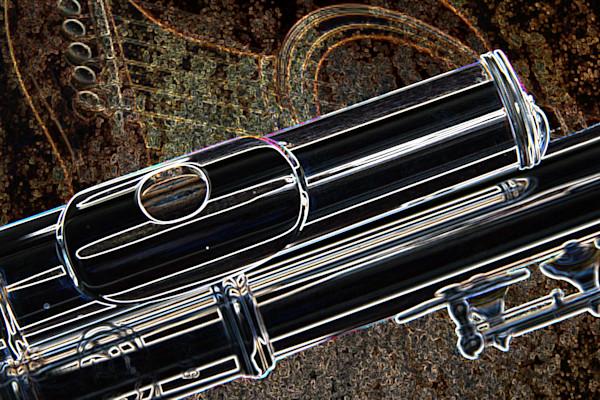 Music Art Flute Dark Drawing 8001.503
