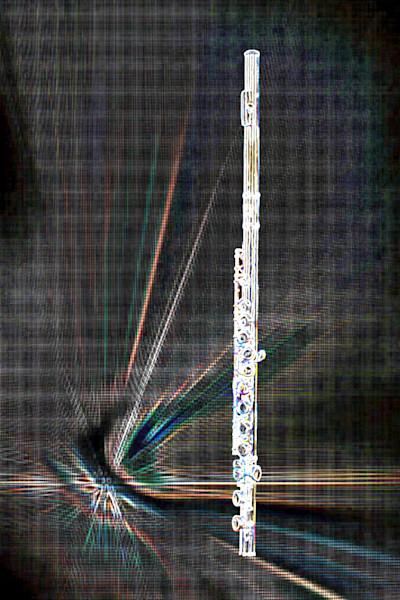 Flute Music Art Dark Drawing 8001.510