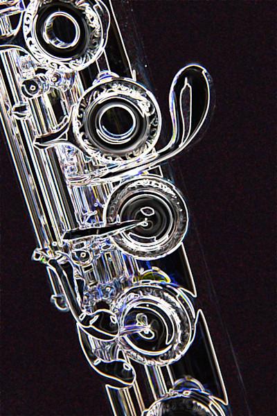 Flute Dark Drawing Music Art 8001.512