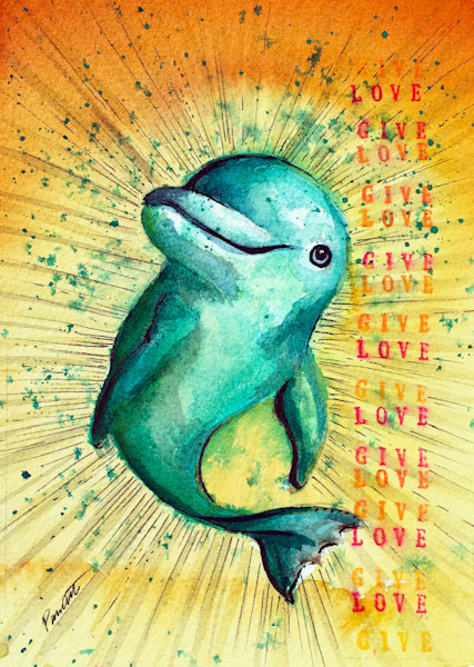 Give Love Dolphin