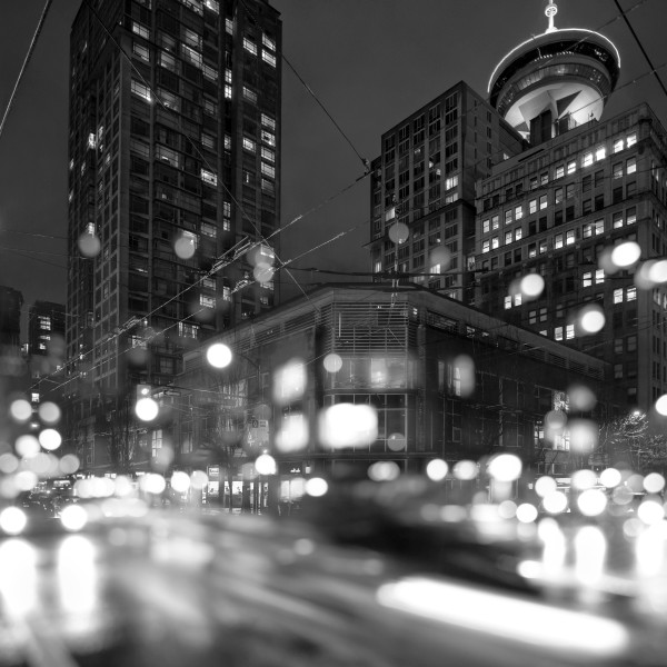 Gastown Lights B&W
