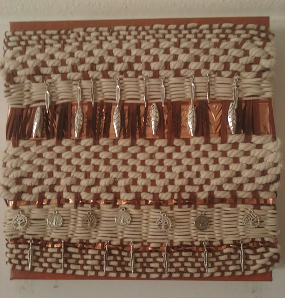 Weaving in Clay and Ivory <SOLD>
