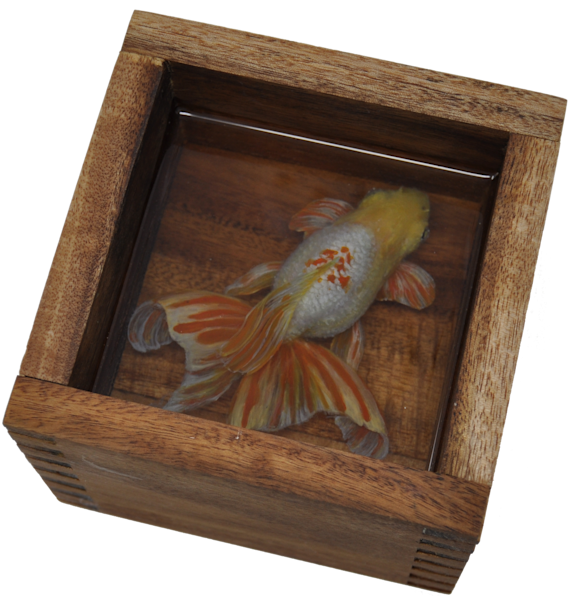 Goldfish 3 D Resin Painting   1 Art | Pete Maupin