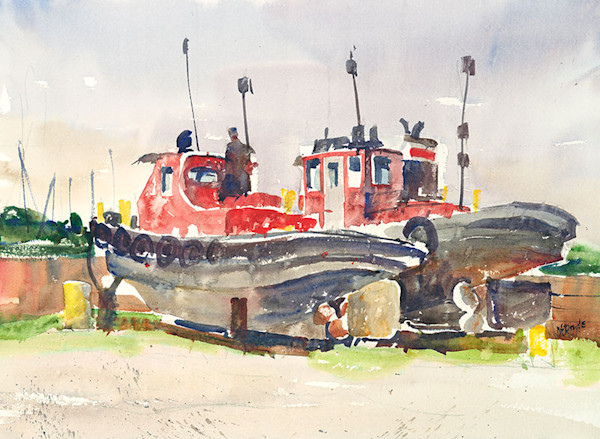 Sturgeon Bay Salvage Yard fine art print by Bill Doyle.