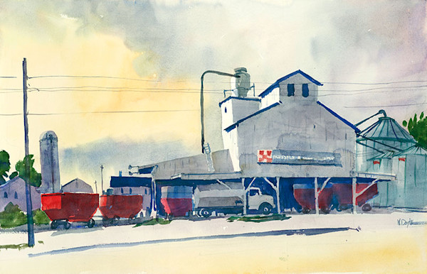 Brussels Feed Mill fine art print by Bill Doyle.