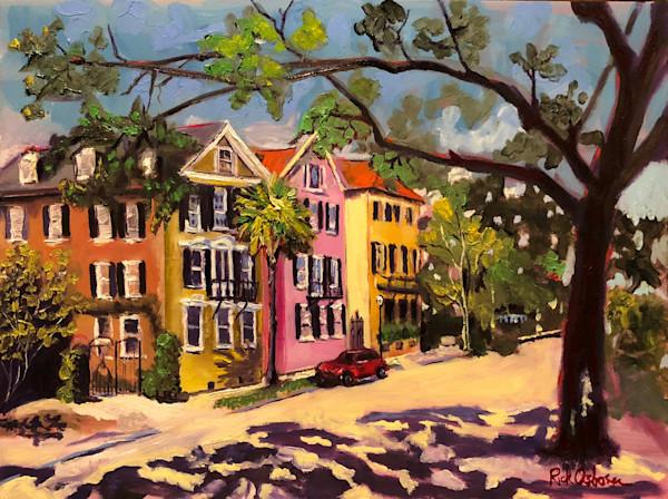 Fancy Street in Charleston | Fine Art Painting Print by Rick Osborn