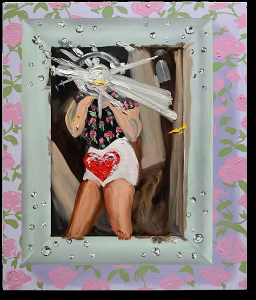 Underwear Selfie painting by Annelie McKenzie