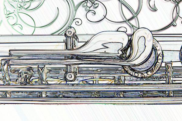 Art Print Flute Canva Print Drawing 8001.605