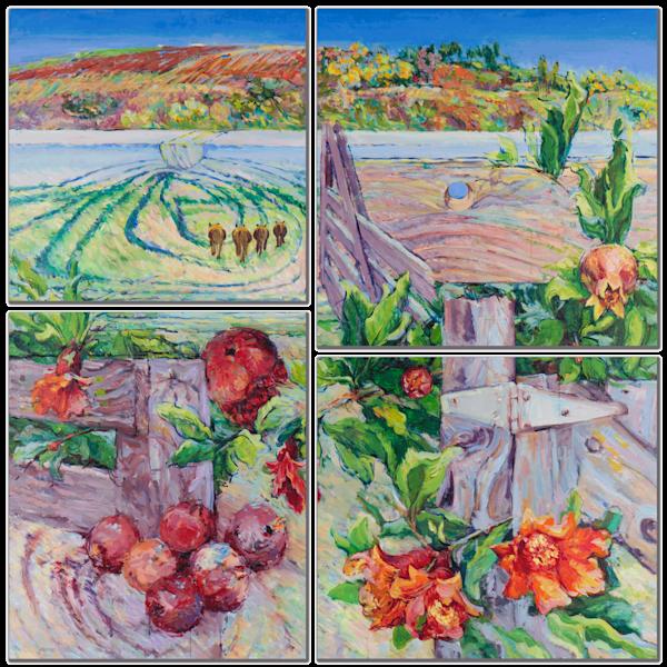 Spring Farm Multi-Panel Wall Art