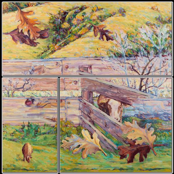 Fall Farm Multi-Panel Art