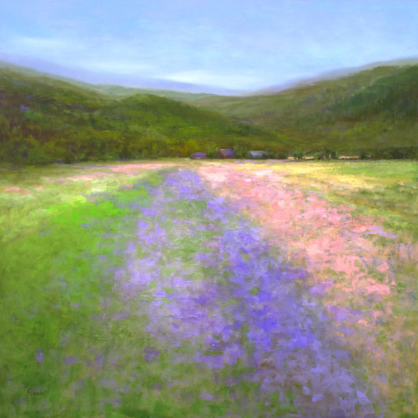 "HALF MOON BAY FLOWER FIELDS  (36x36"")"