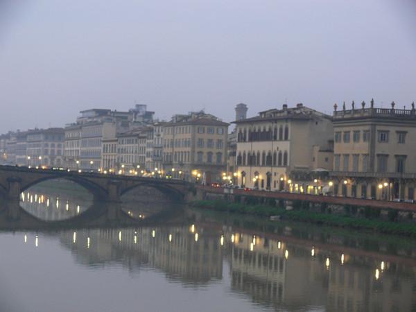 Evening along the Arno