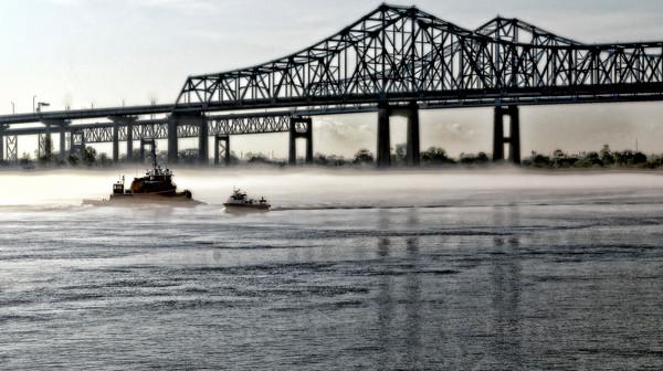 Mississippi Channel Bridge Near Riverwalk NOLA