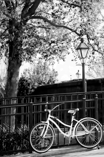 Bike Rest, Jackson Square BW