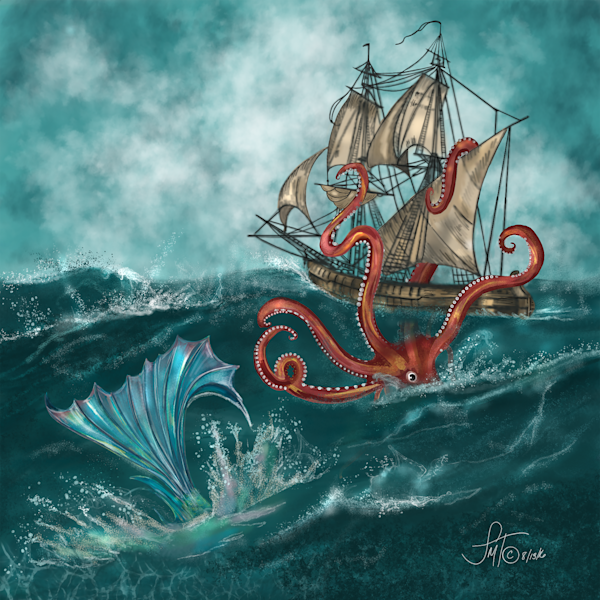 Kraken and the Mermaid