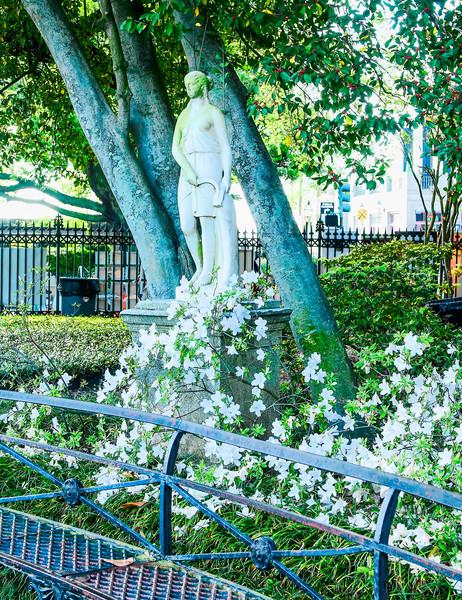 Pretty Old Statue Under the Oaks, Jackson Square