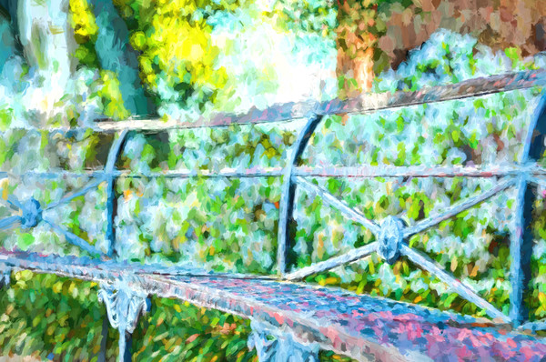 Iron Park Bench in Jackson Square