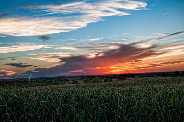 Sunset in Clatonia Nebraska