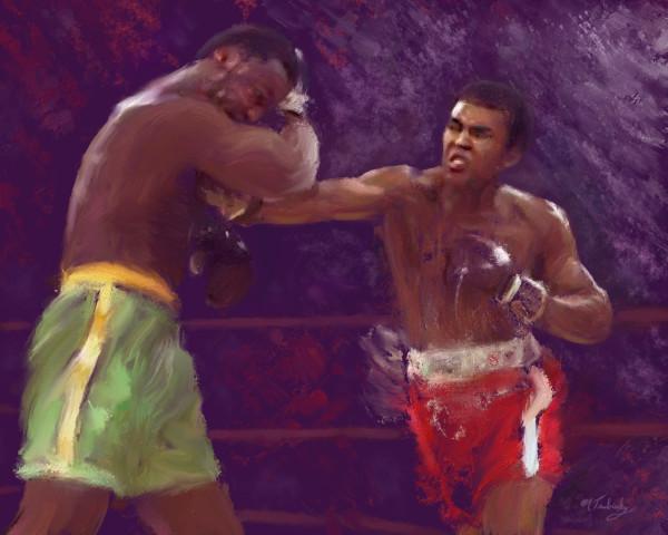 Muhammad Ali boxing painting | Sports artist Mark Trubisky | Custom Sports Art